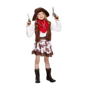 Age 4-6 Small GIRLS Childs Cowgirl Wild WIld West Fancy Dress Costume